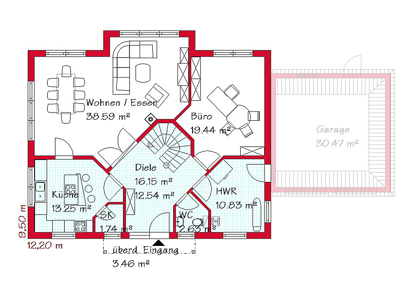 Massivbau einfamilienhaus gse haus for Eigenheim grundrisse