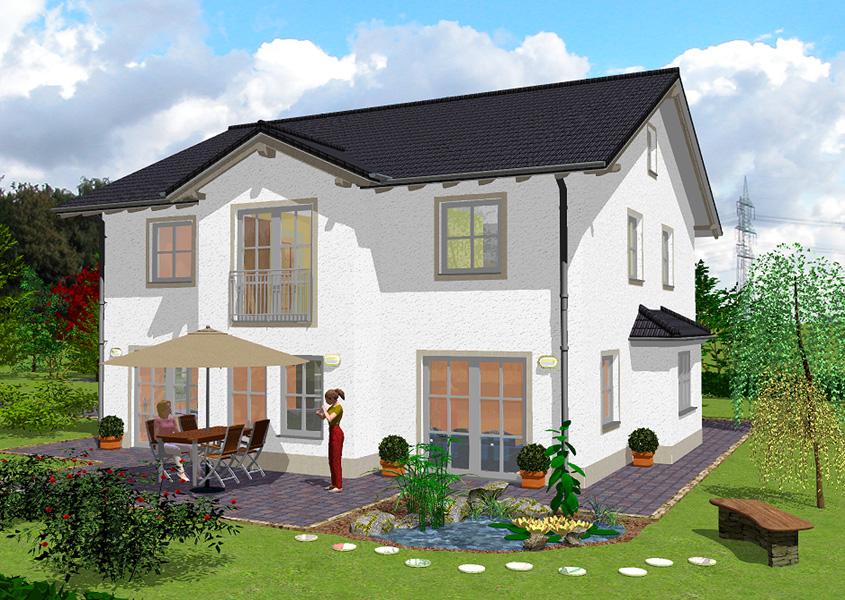 massivhaus bauen zweigeschossige einfamilienh user. Black Bedroom Furniture Sets. Home Design Ideas