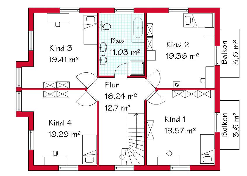 exklusive zweigeschossige einfamilienh user mit gse haus. Black Bedroom Furniture Sets. Home Design Ideas