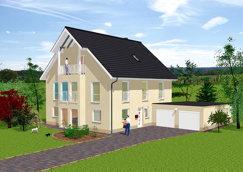 Exklusive zweigeschossige einfamilienh user mit gse haus for Modernes haus 2 etagen