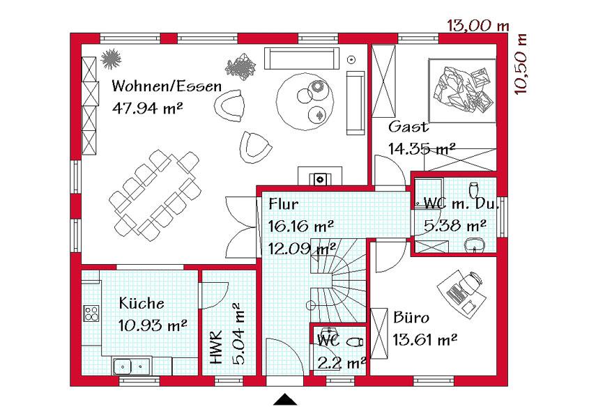 Grundriss einfamilienhaus schlafzimmer im erdgeschoss  Zweifamilienhaus bauen mit GSE HAUS