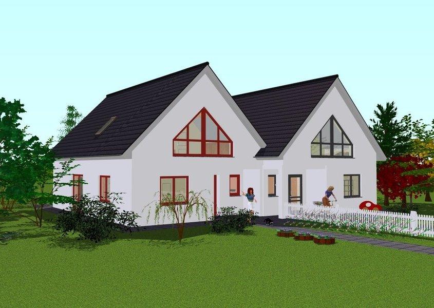 Modernes wohnen im doppelhaus mit gse haus for Doppelhaus modern