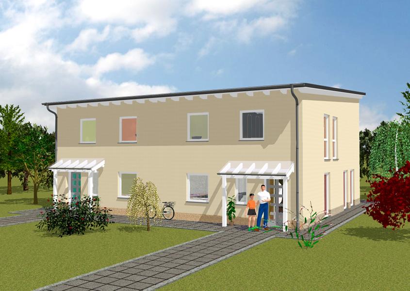 Moderne doppelhäuser pultdach  Doppelhäuser mit modernen Pultdächern | GSE HAUS