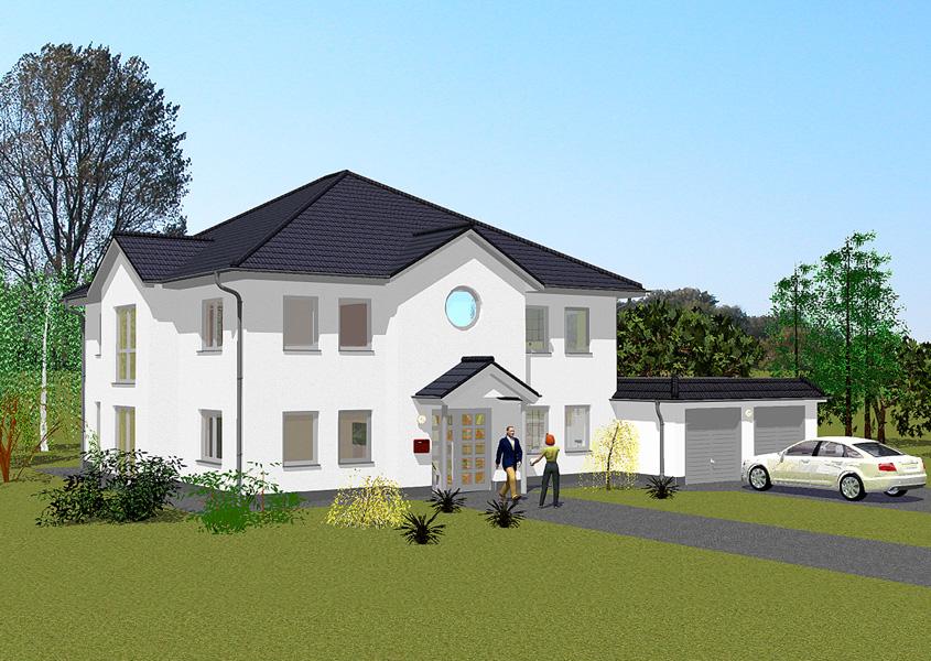 Zweigeschossige zweifamilienhaus z2 242 for Zweifamilienhaus grundriss