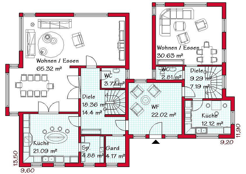 Haus mit einliegerwohnung anbau  Stadthaus im mediterranen Baustil mit Einliegerwohnung