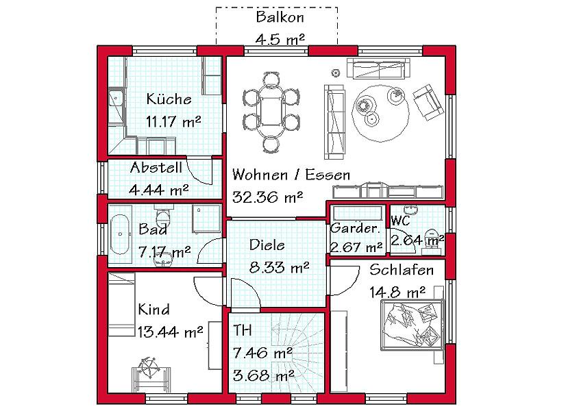 Zweigeschossiges zweifamilienhaus z2 190 for Zweifamilienhaus grundriss