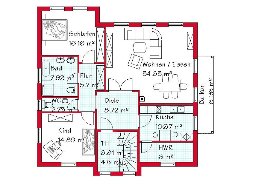 Zweigeschossiges zweifamilienhaus z2 194 for Zweifamilienhaus grundriss