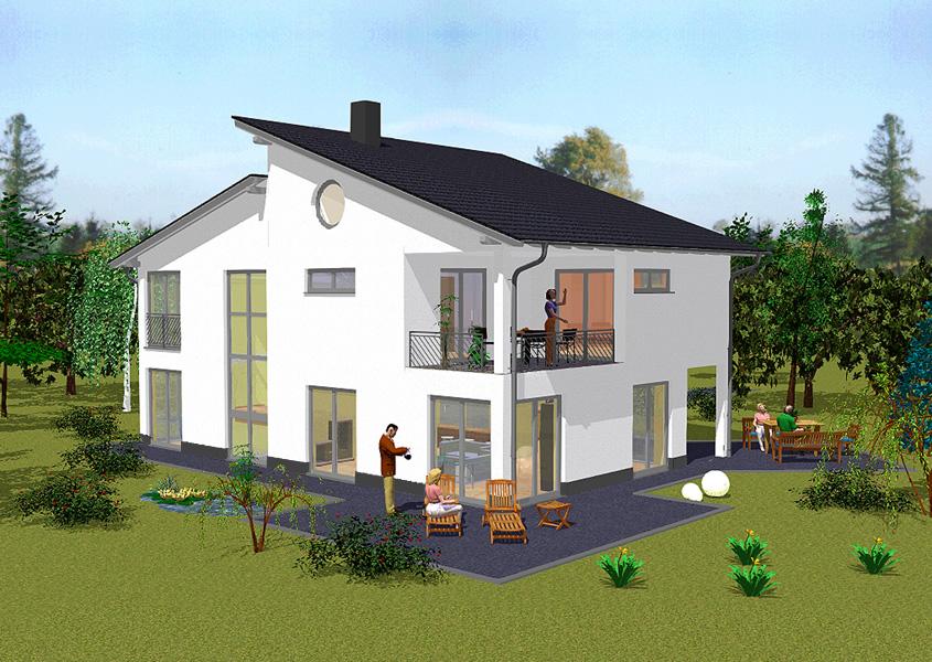 pultdachhaus mit 182 m wohnfl chte jetzt mit gse haus bauen. Black Bedroom Furniture Sets. Home Design Ideas