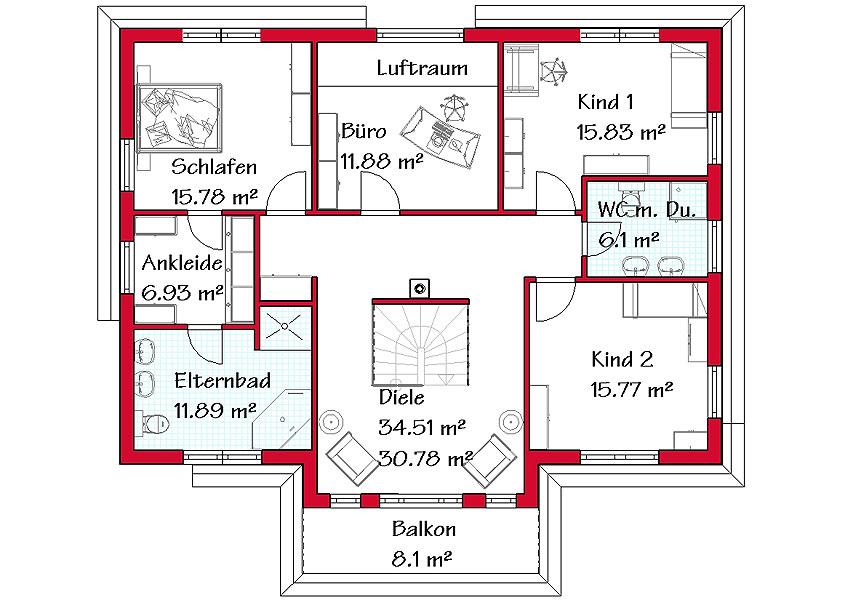Einfamilienhaus grundriss 3 kinderzimmer  Wir bauen Ihr mediterranes Traumhaus | GSE HAUS