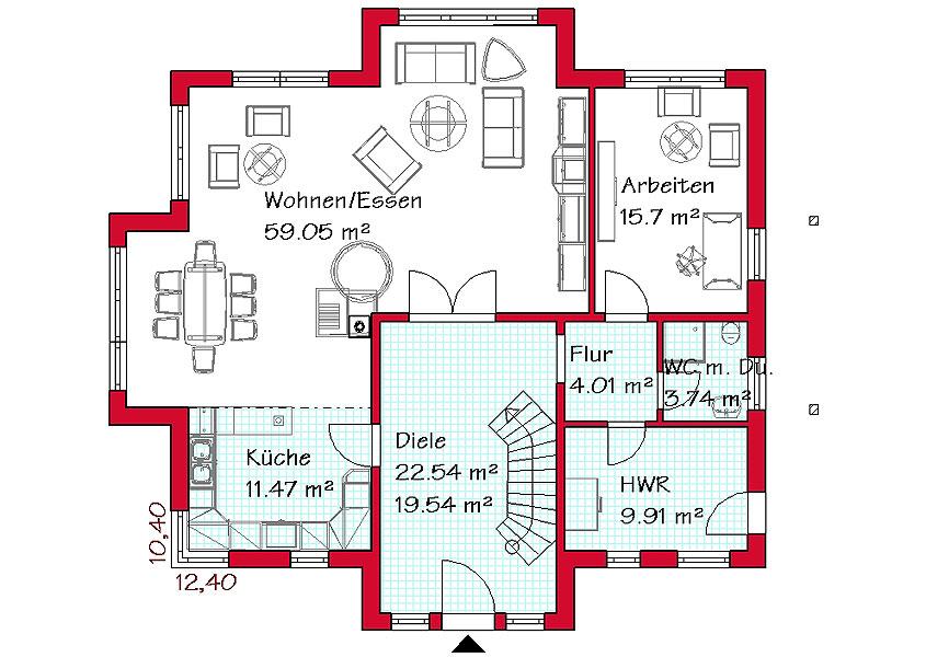 Grundriss einfamilienhaus schlafzimmer im erdgeschoss  Wir bauen Ihr Traumhaus | GSE-HAUS