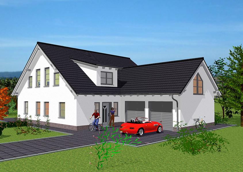 Massivhaus exklusive mehrgiebelh user gse haus for Haus mit doppelgarage bauen