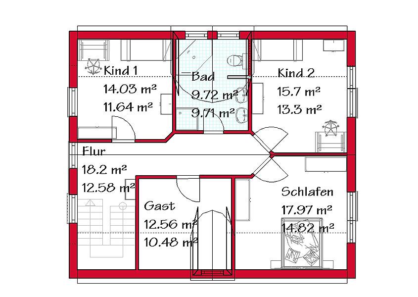 Moderner Hausbau Von Einfamilienhäusern