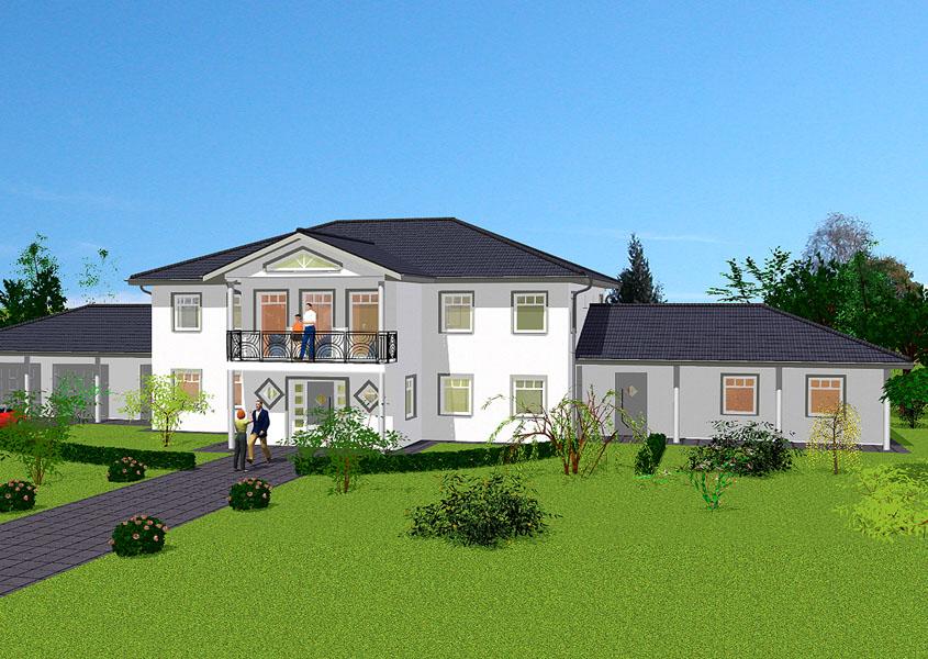 Landhaus in massivbauweise bauen mit gse haus for Haus mit doppelgarage bauen
