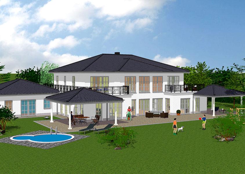 landhaus mit einliegerwohnung bauen gse haus. Black Bedroom Furniture Sets. Home Design Ideas