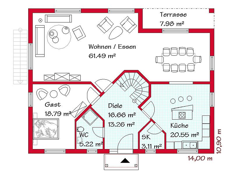 pultdachh user in garantierter bauzeit mit gse haus. Black Bedroom Furniture Sets. Home Design Ideas
