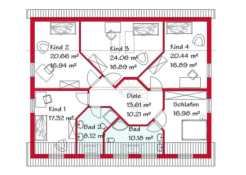 Grundriss stadtvilla 200 qm  Pultdachhäuser in garantierter Bauzeit mit GSE HAUS
