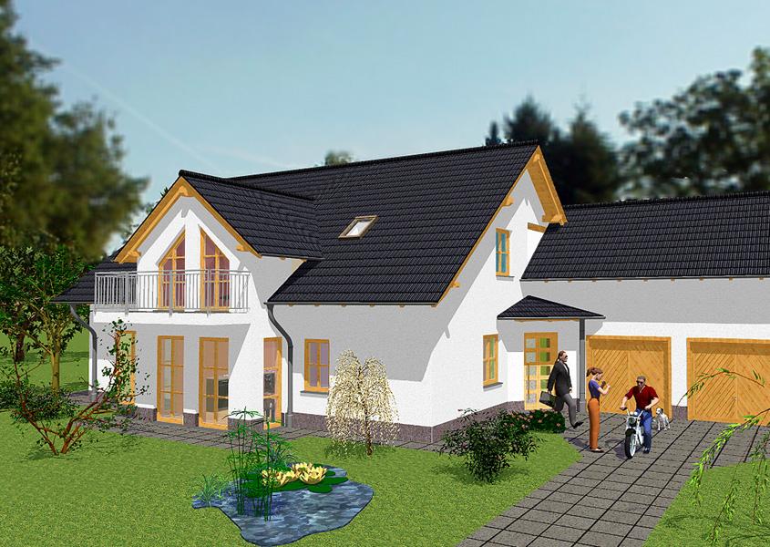 Grundriss Einfamilienhaus Mit Integrierter Garage images
