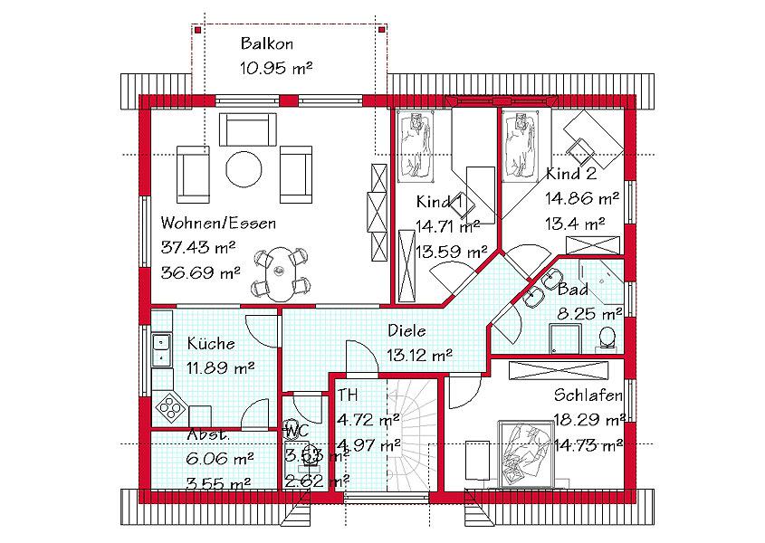doppelhaush lfte in massivbauweise bauen gse haus. Black Bedroom Furniture Sets. Home Design Ideas