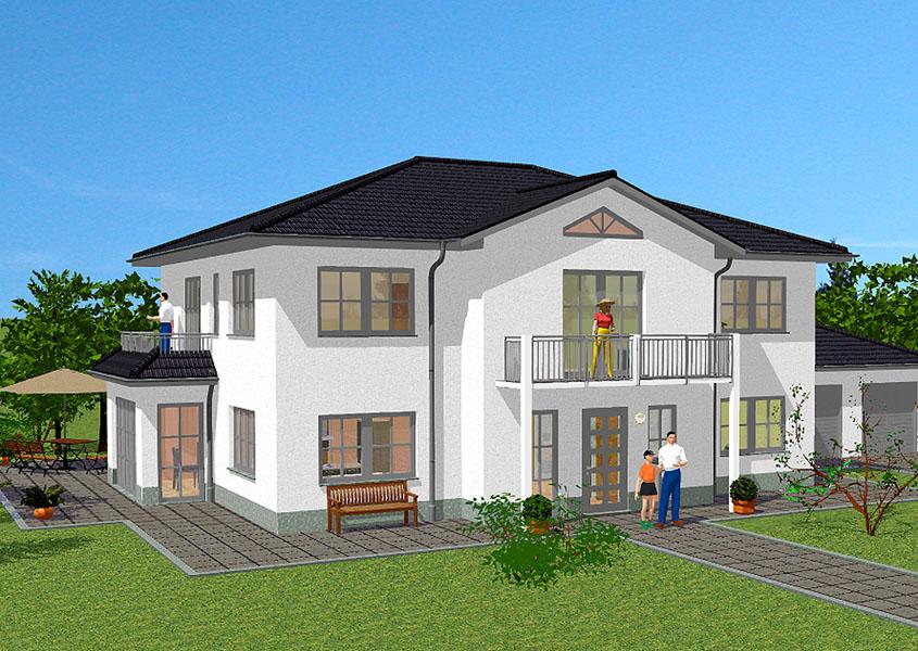 Massivhaus in medtierranen Stil mit 239 m² Wohnfläche