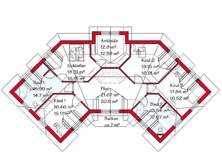 Einfamilienhaus grundriss 3 kinderzimmer  Landhaus mit Einliegerwohnung bauen mit GSE HAUS