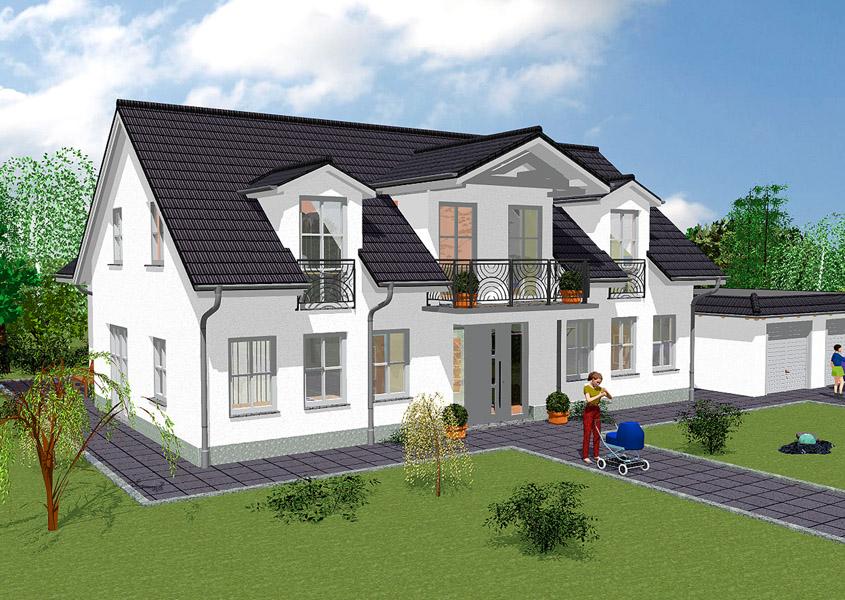 Wir verwirklichen ihren taum vom landhaus gse haus for Haus mit doppelgarage bauen