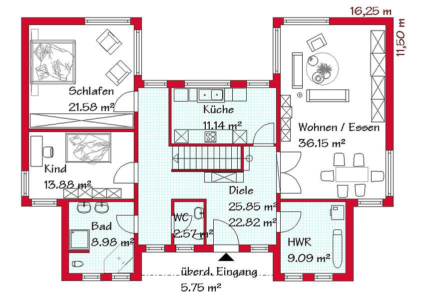 bungalow massivbau gse haus gmbh. Black Bedroom Furniture Sets. Home Design Ideas