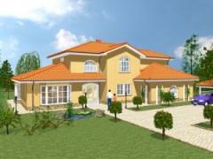 Stadtvilla Landhausstil schlüsselfertige landhäuser rustikale extraklasse