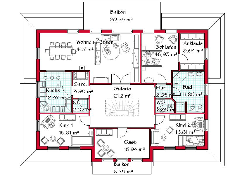 Dreifamilienhaus bauen gse haus gmbh for Zweifamilien bungalow grundriss