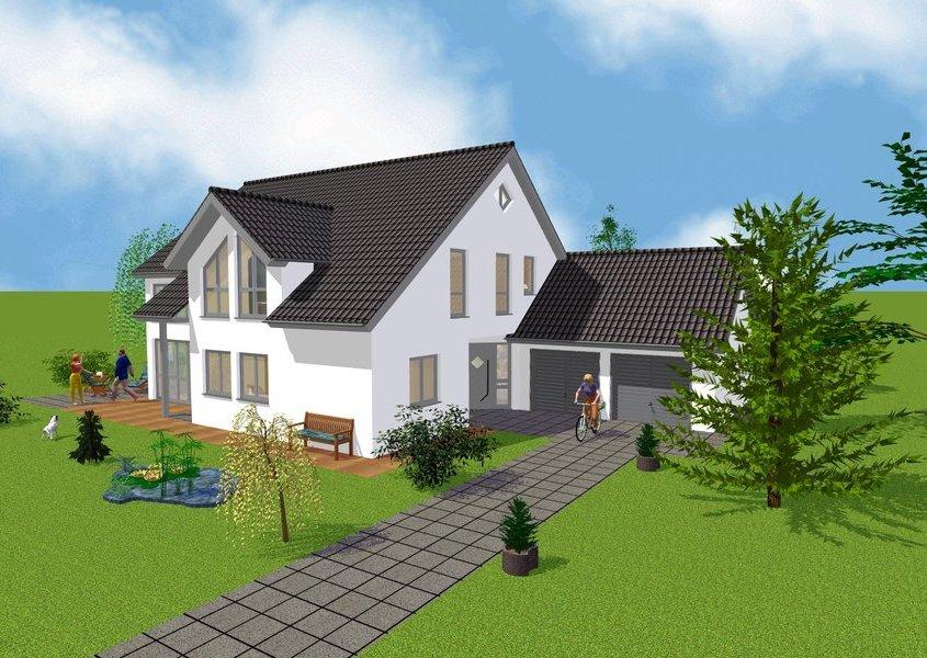 haus mit doppelgarage alle ideen ber home design. Black Bedroom Furniture Sets. Home Design Ideas
