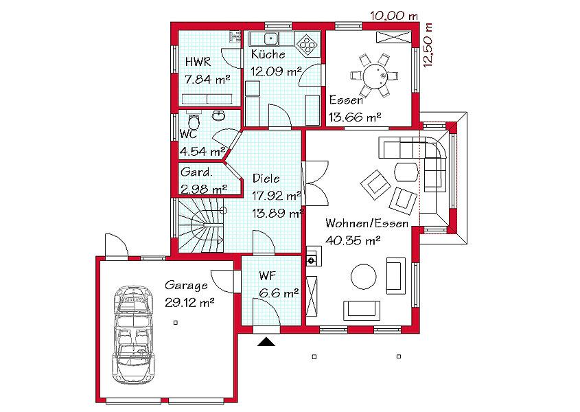 Grundriss einfamilienhaus mit integrierter garage  Mediterrane Traumhäuser in hellen Farben | GSE HAUS