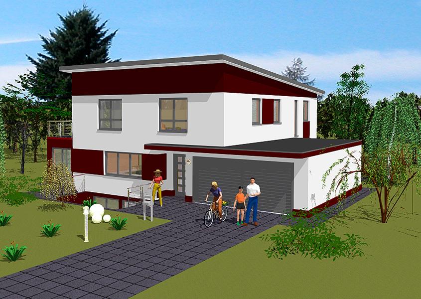 pultdachhaus in massivbauweise bauen gse haus. Black Bedroom Furniture Sets. Home Design Ideas