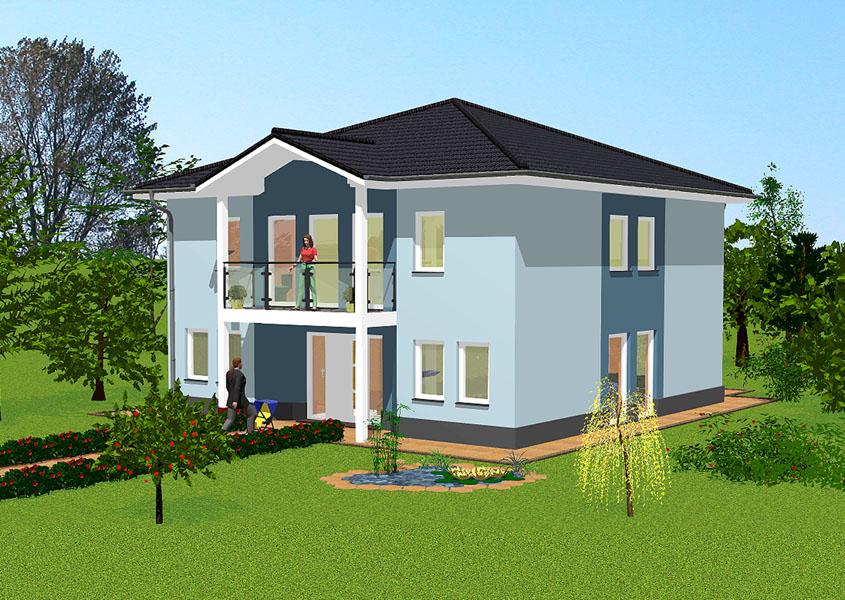 mediterranes massivhaus mit balkon und 190 m wohnfl che. Black Bedroom Furniture Sets. Home Design Ideas