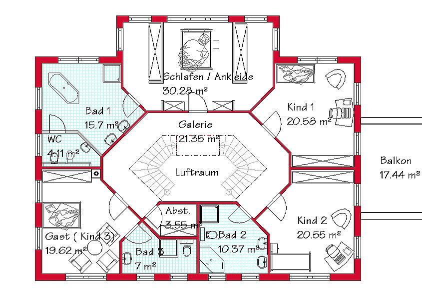 Einfamilienhaus luxus grundriss  Bauen Sie Ihr exklusives Landhaus mit GSE HAUS