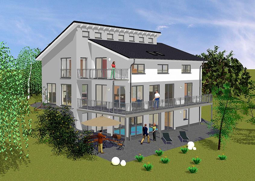 villa mit pultdach in massivbauweise gse haus. Black Bedroom Furniture Sets. Home Design Ideas