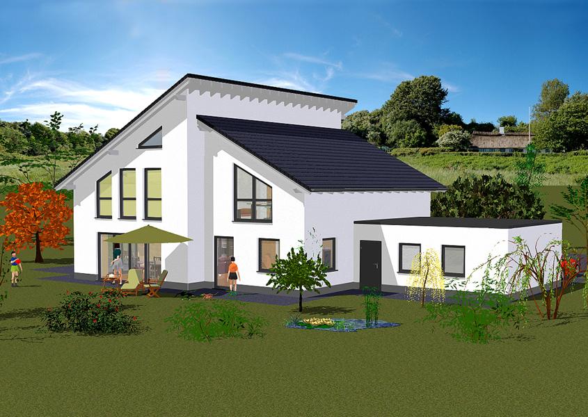 wir bauen ihr pultdachhaus in massivbauweise gse haus. Black Bedroom Furniture Sets. Home Design Ideas