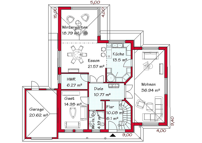 massivgebaute mediterrane h user gse haus. Black Bedroom Furniture Sets. Home Design Ideas