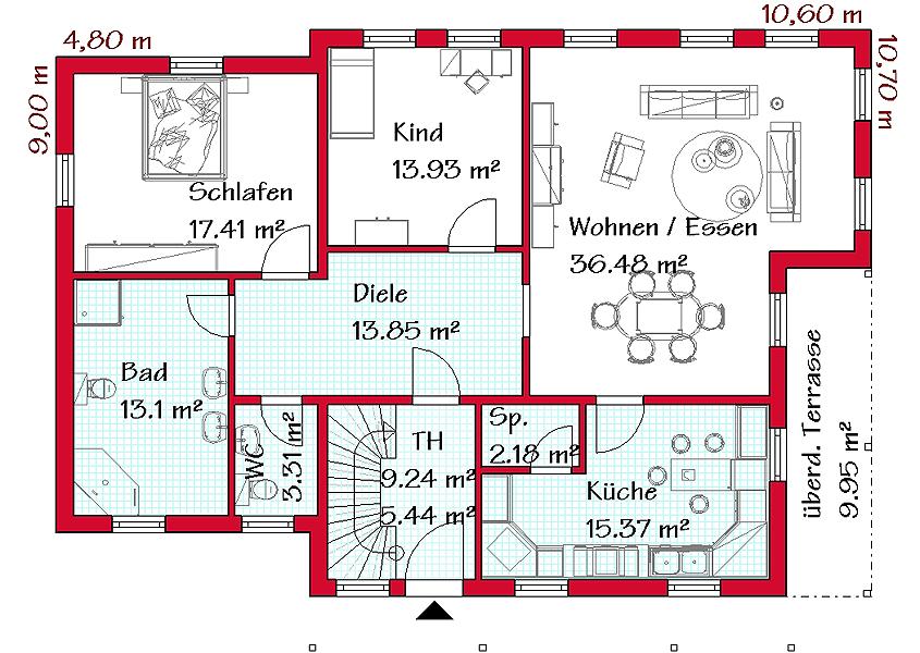 Zweigeschossiges zweifamilienhaus z2 230 gse haus gmbh for Zweifamilienhaus grundriss