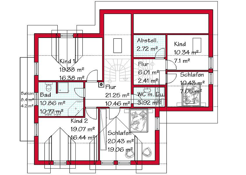 Mehrfamilienhaus massivbau mit gse haus for Grundriss zweifamilienhaus
