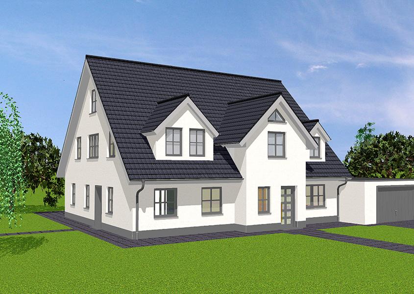 Einfamilienhaus mit einliegerwohnung gse haus for Fertighaus mit einliegerwohnung