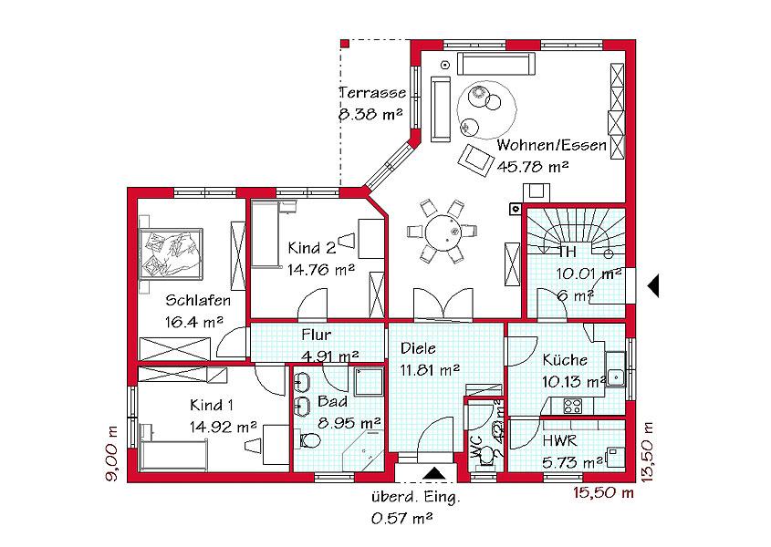 Grundriss bungalow mit einliegerwohnung  Bungalow mit Möglichkeit zur Einliegerwohnung | GSE HAUS