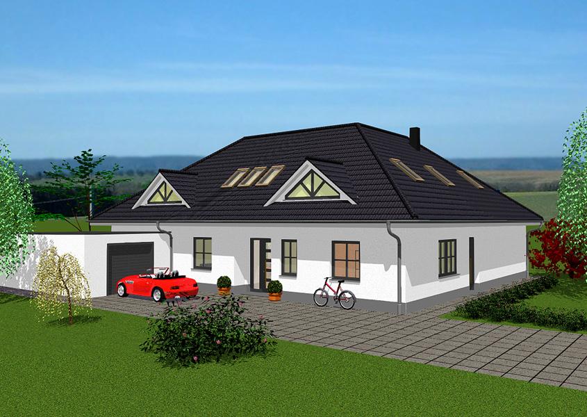 Bungalow mit m glichkeit zur einliegerwohnung gse haus for Haus mit doppelgarage bauen