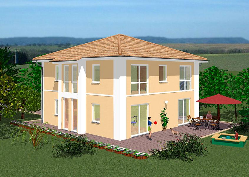 stilvolle stadtvilla im mediterranen stil bauen gse haus. Black Bedroom Furniture Sets. Home Design Ideas