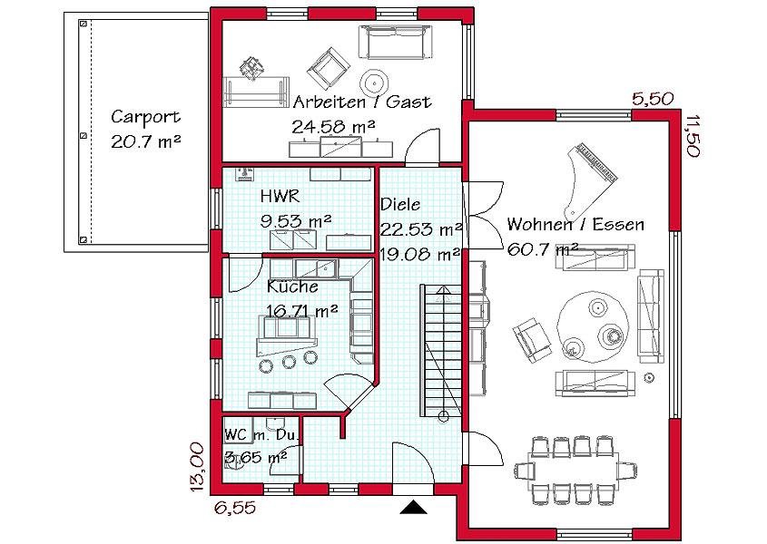 Wir Bauen Pultdachhauser In Massivbauweise