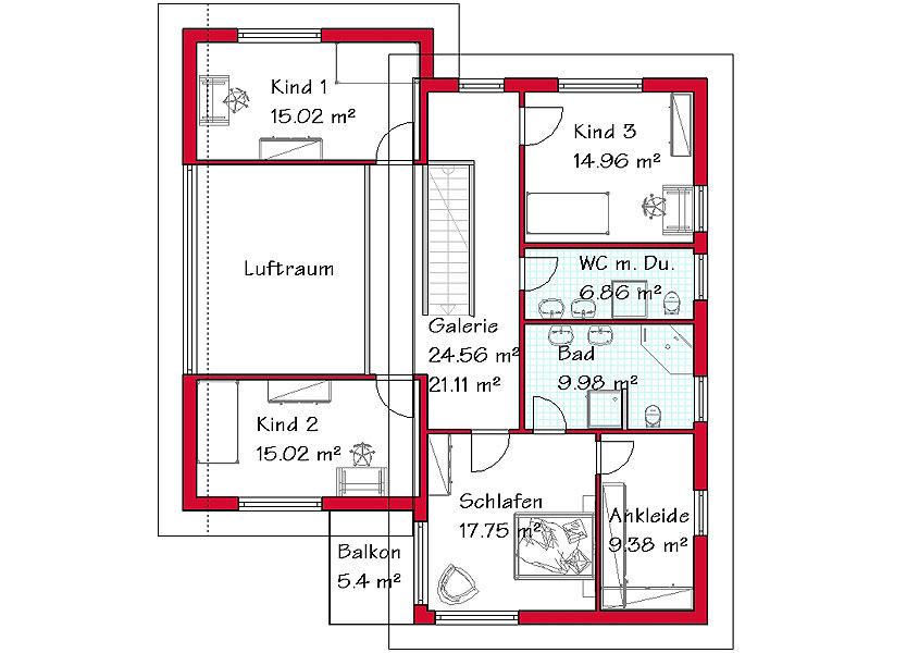 Wir bauen pultdachh user in massivbauweise for Pultdachhaus grundriss