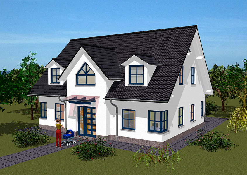 Einfamilienhaus im landhausstil bauen mit gse haus for Modernes haus landhausstil