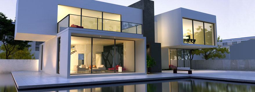 exklusive architektenh user schl sselfertig. Black Bedroom Furniture Sets. Home Design Ideas